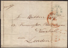 1848 PRE-STAMP ENTIRE DEVENTER, NETHERLANDS TO LONDON WITH DUTCH 'FREE' CANCEL