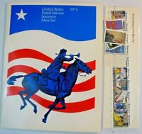 Sealed 1973 Souvenir Mint Set USPS Stamp Yearbook Album with Stamps Free Ship