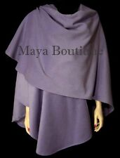 Cashmere Cape Ruana Coat Wrap Lavender Maya Matazaro Usa Made New