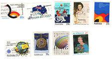 stamps Australia A284 A298 A307 A313 A325 A328 A353 A411 A418 Lot (9)