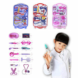 Kids Doctor Nurse Carry Case Medical Kit Play Set Role Play Toy Best Gift Sets