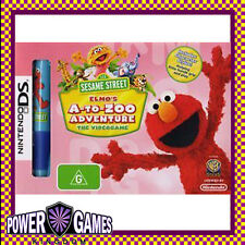 Sesame Street Elmo's A-to-Zoo Adventure + Character Stylus NDS DS lite Dsi XL BN