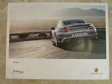 2014 Porsche 911 Turbo Coupe Showroom Advertising Poster RARE!! Awesome L@@K