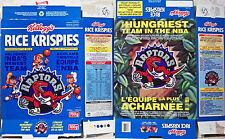 1994 Toronto Raptors Canada Kellogg's Rice Krispies Cereal Box shm457
