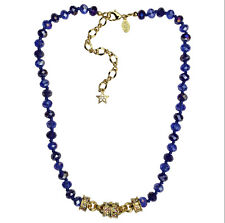 KIRKS FOLLY BLUE HEAVEN BEADED MAGNETIC NECKLACE  goldtone