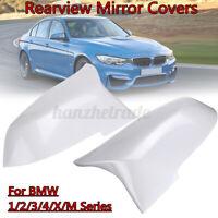 Coppia Bianco Retrovisore Laterale Calotta Specchietto Per BMW 1/2/3/4 / X/M