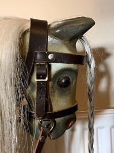 BEST Quality Rocking Horse Leather removable Bridle with Reins & Bit - S, M, L