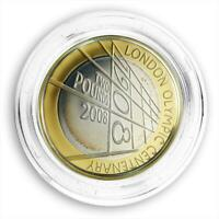 Great Britain PS2 pound The 4th Olympiad London Anniversary Silver Gilded 2008