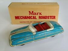 VINTAGE MARX MECHANICAL ROADSTER TIN WINDUP CAR BLUE