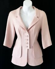 $4,225 CHANEL Pink CC Logo Button Tweed JACKET *  FR  36 38 / US 2 - 4
