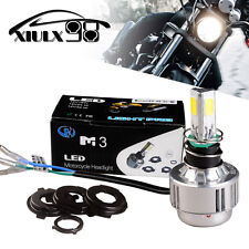 6000K White H4 COB LED Bulb Motorcycle Headlight Hi/Lo Beam 24W 2600LM HB2 9003