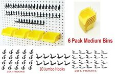 "JSP 56 Pegboard Kit Storage Part Bins Locking Peg Hooks 1/4"" holes Hooks Craft"