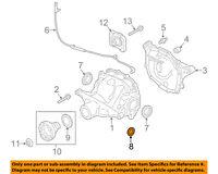 FORD OEM Carrier-Rear-Bearing 2L1Z4B413AA
