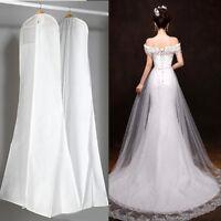 72'' Dustproof Wedding Dress Bridal Gown Garment Clothes Cover Storage Zip Bag