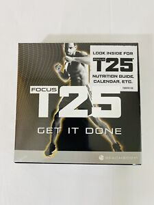 Focus T25 Get It Done DVD Box Set Shaun T Alpha + Beta Workout Discs Sealed NEW