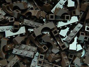 LEGO ARCH 1x4 x20 pieces # DARK BROWN # bridge window wall castle +
