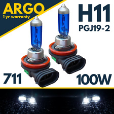 H11 100w Xenon White 711 Headlight Foglight PGJ19-2 Headlamps Fog Lamp Bulbs 12v
