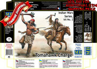 Master Box 35192 Tomahawk Charge Indian w/Weapons & Horse plastic model kit 1/35