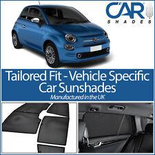 Fiat 500 3 door 08 On UV CAR SHADES WINDOW SUN BLINDS PRIVACY GLASS TINT BLACK
