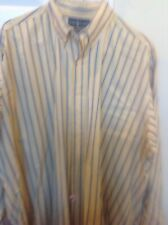 Polo By Ralph Lauren Mrns XL L/S Buttonup, 100% Blake Cotton, Yellow With Blue