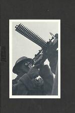 Nostalgia Postcard Naval Gunner stands at action stations on-Armed Patrol Vessel
