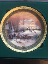 Thomas Kinkade 2001 Plate 3rd Iss Victorian Christmas Ii Cherished Xmas Memories