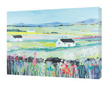 Janet Bell - Across the Fields - 50 x 40cm Canvas Print Wall Art WDC94612