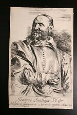 "Anthonius van Dyck orig. Radierung 1630 ""Jan Snellinx Pictor"" satter Druck TOP!"