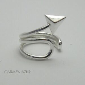 Solid 925 Sterling Silver Ear Cuff Arrow Design New inc Gift Bag & Free UK P&P