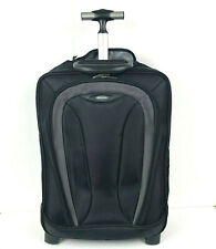 Targus Slim Vertical Roller Laptop Case Black Pockets Retractable Handle
