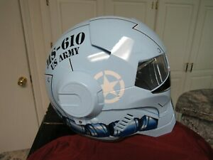 Masei Gloss Blue Tiger US Army Stormtrooper MS-610 Motorcycle Helmet L/XL  #19