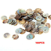 1X(Lot 100 Perles Boutons en Nacre Coquillage Rond 15mm H5K4)