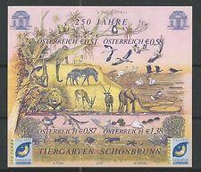 Österreich 2002 250 Jahre Tiergarten Schönbrunn Buntdruck-Block postfrisch