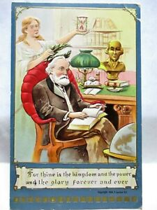 1908 POSTCARD FOR THINE IS THE KINGDOM & THE POWER AND THE GLORY FOREVER & EVER