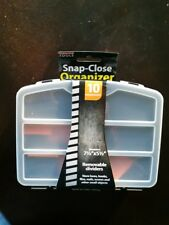 Snap Close Organizer 10 Compartments Removable Dividers Overall Size 7 ½ x 5 ½ x