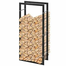 vidaXL Firewood Rack Rectangular 100cm Log Wood Cart Mover Carrier Holder