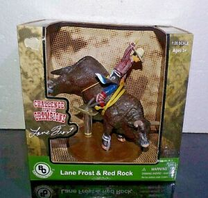 Big Country Farm Toys PBR Rodeo Bull RED ROCK w/Rider Cowboy LANE FROST