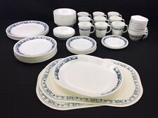HUGE Set Of Corelle Old Town Blue Onion Dishes Plates Bowls Mugs Cups Pyrex