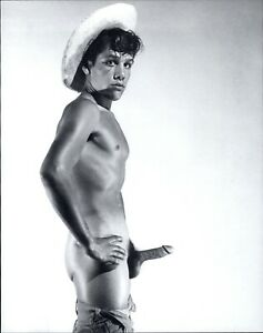 1995 '50s Bruce Bellas of LA Nude Male Gay Not So Modest Cowboy Art Photo