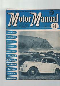 Australian Monthly Motor Manual 1947    20