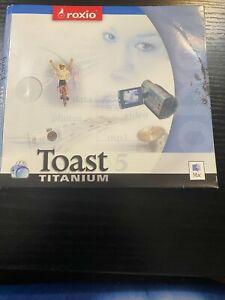 Roxio Toast Titanium 5 & 5.2 for Mac OS 9  & OS X