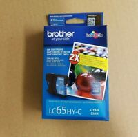 NEW SEALED IN BOX GENUINE BROTHER LC65HY-C HIGH YIELD CYAN INK 11/2019