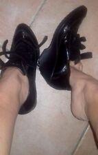 Scarpe donna Sportive Sneakers  usate USATISSIME Nero vernice con zeppa