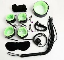 8Pcs Under Bed Bondage Set Collar Whip Cuffs Rope Restraint System Kit BDSM Toy