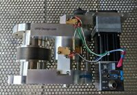"""NEW UHV z axis translator 1"""" travel 4.5"""" conflat vacuum bellows motorized MDC"""