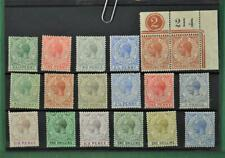 GIBRALTAR STAMPS SELECTION OF 18 STOCK CARD   (C148)