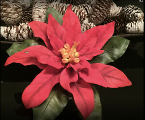Large Red Christmas Poinsettia/cake Topper/decoration