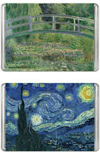 MiniPix Bundle of 2 Puzzles - Water-Lily Pond by Monet & Starry Night by VanGogh