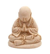 Small Sitting Buddha Stature Praying Ornament 11cm Home Gift Cream Figure New