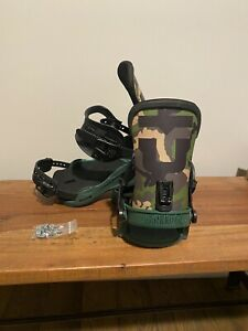 Union Duck Camo Team Exclusive Super Force 1/1 Snowboard Binding size Large